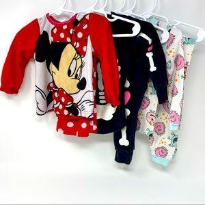 Disney/Carter's/Kidgets Infant Pajama Sets 12-18M